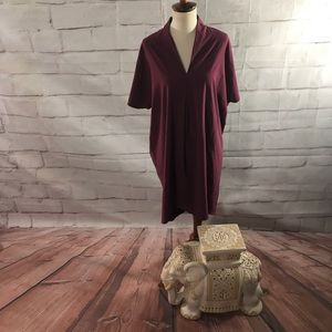 Lucy Athleisure Dress in Maroon